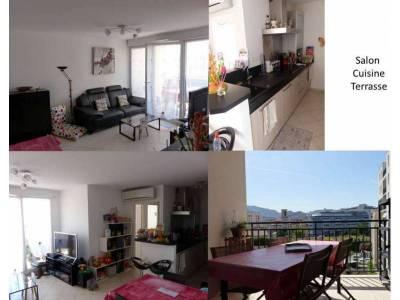Salon + cuisine + terrasse