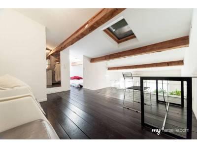 vente appartement meubl duplex 2 pi ces 47m vauban 6 me marseille ref 73830. Black Bedroom Furniture Sets. Home Design Ideas